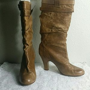 Kelly & Katie leather heeled boots
